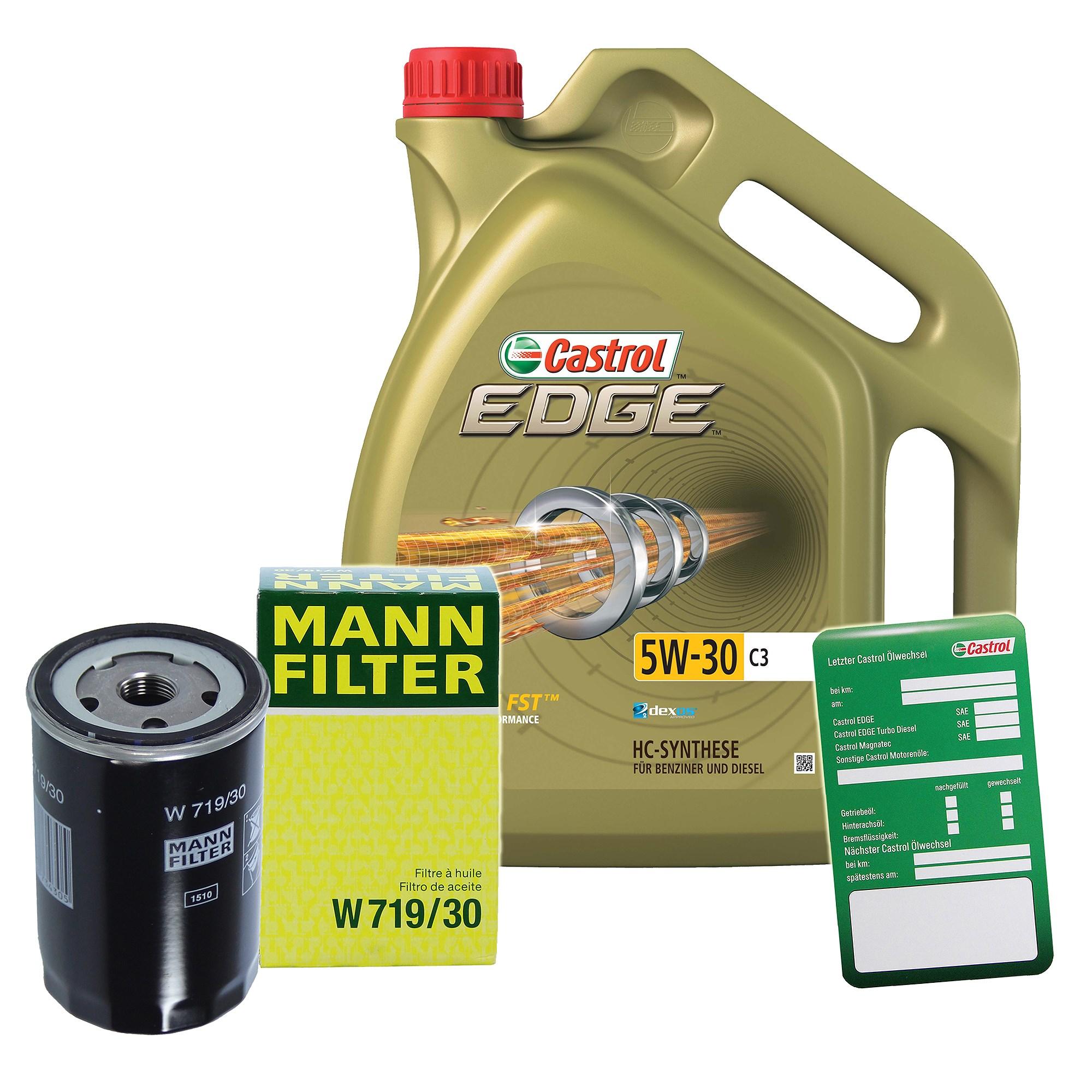 mann filter lfilter 5l castrol edge 5w 30 c3. Black Bedroom Furniture Sets. Home Design Ideas