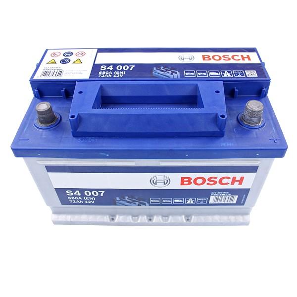 bosch starterbatterie s4 007 72ah 680a 12v atp autoteile. Black Bedroom Furniture Sets. Home Design Ideas
