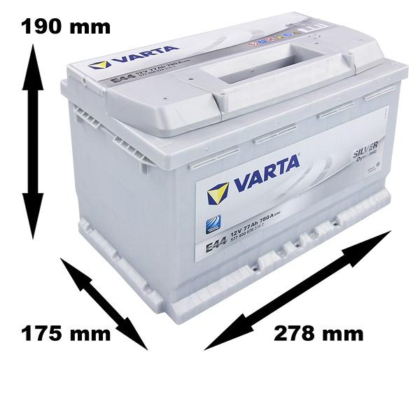 varta silver dynamic starterbatterie 77ah 780a e44 atp. Black Bedroom Furniture Sets. Home Design Ideas