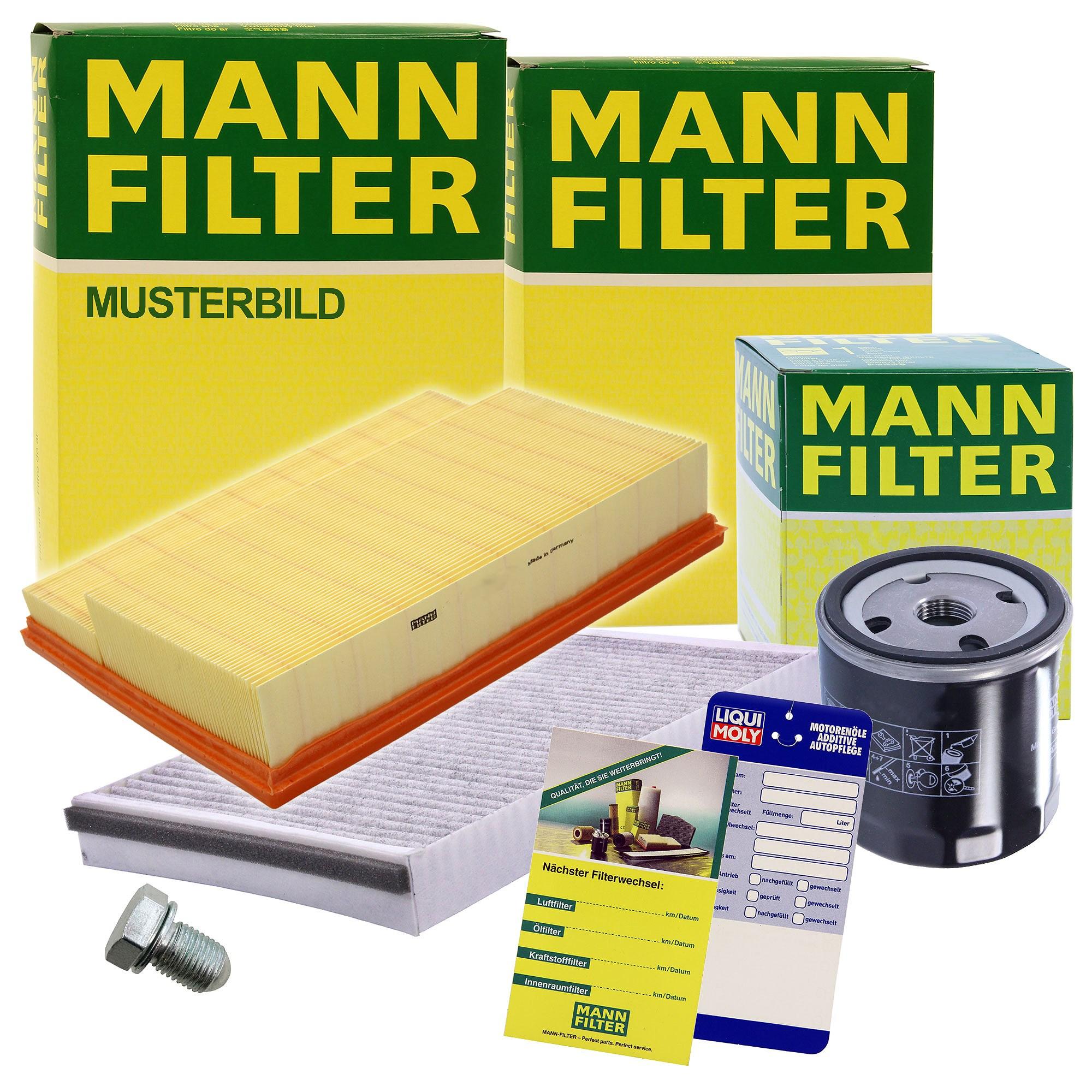 Inspektionspaket SET A 1x /Ölfilter 1x Luftfilter 1x Innenraumfilter 1x /Ölablass-Schraube 1x Dichtring f/ür /Ölablass-Schraube