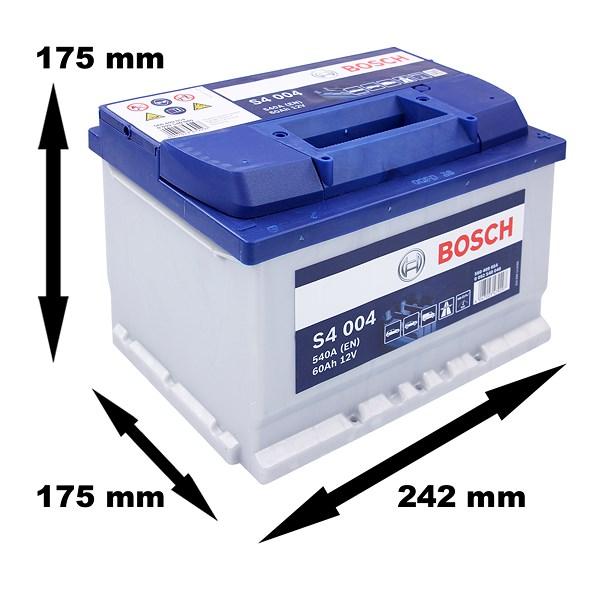 bosch starterbatterie s4 004 60ah 540a 12v atp autoteile. Black Bedroom Furniture Sets. Home Design Ideas