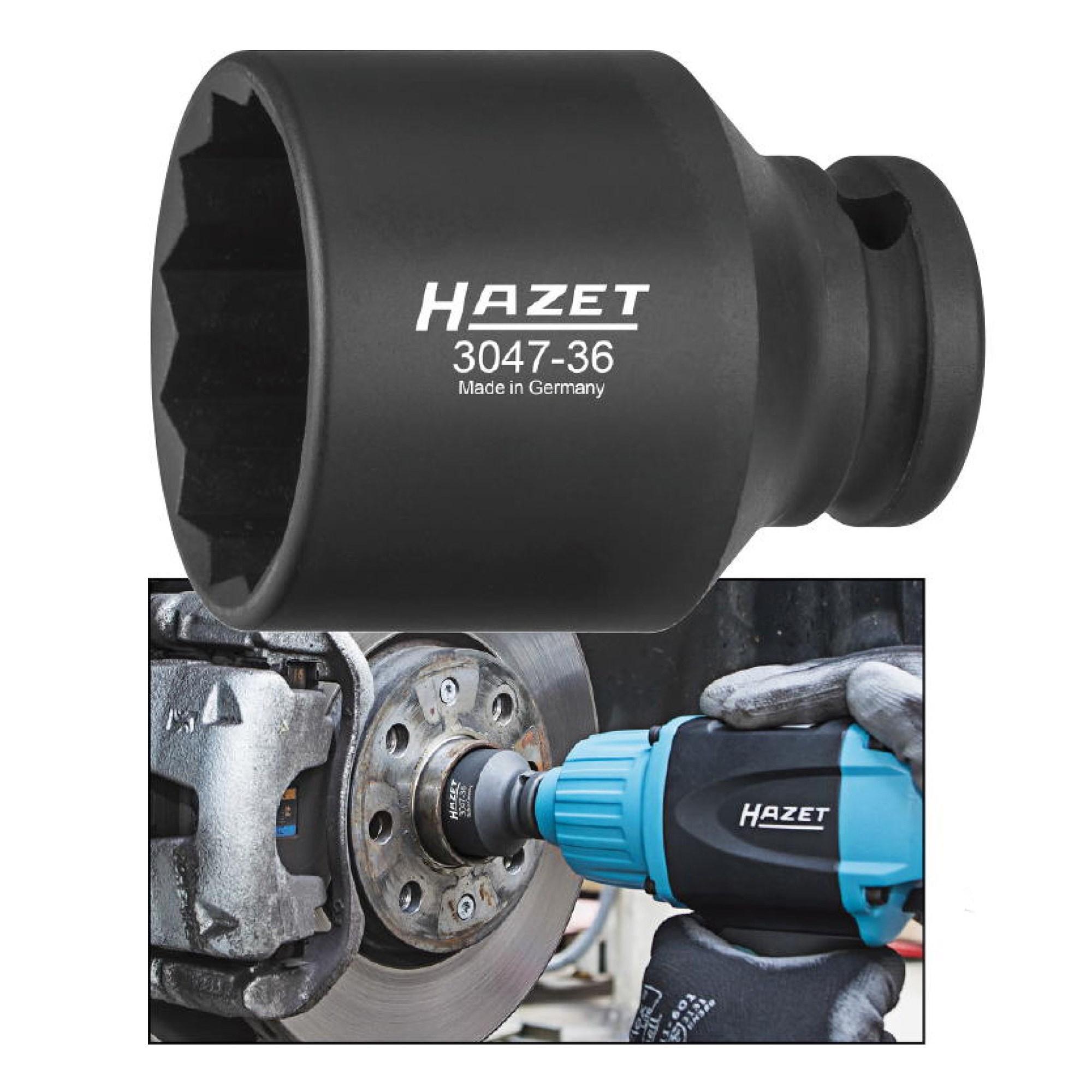 """HAZET 1//2/"""" Zoll Steckschlüsseleinsatz Ø 30 mm Doppelsechskant"""