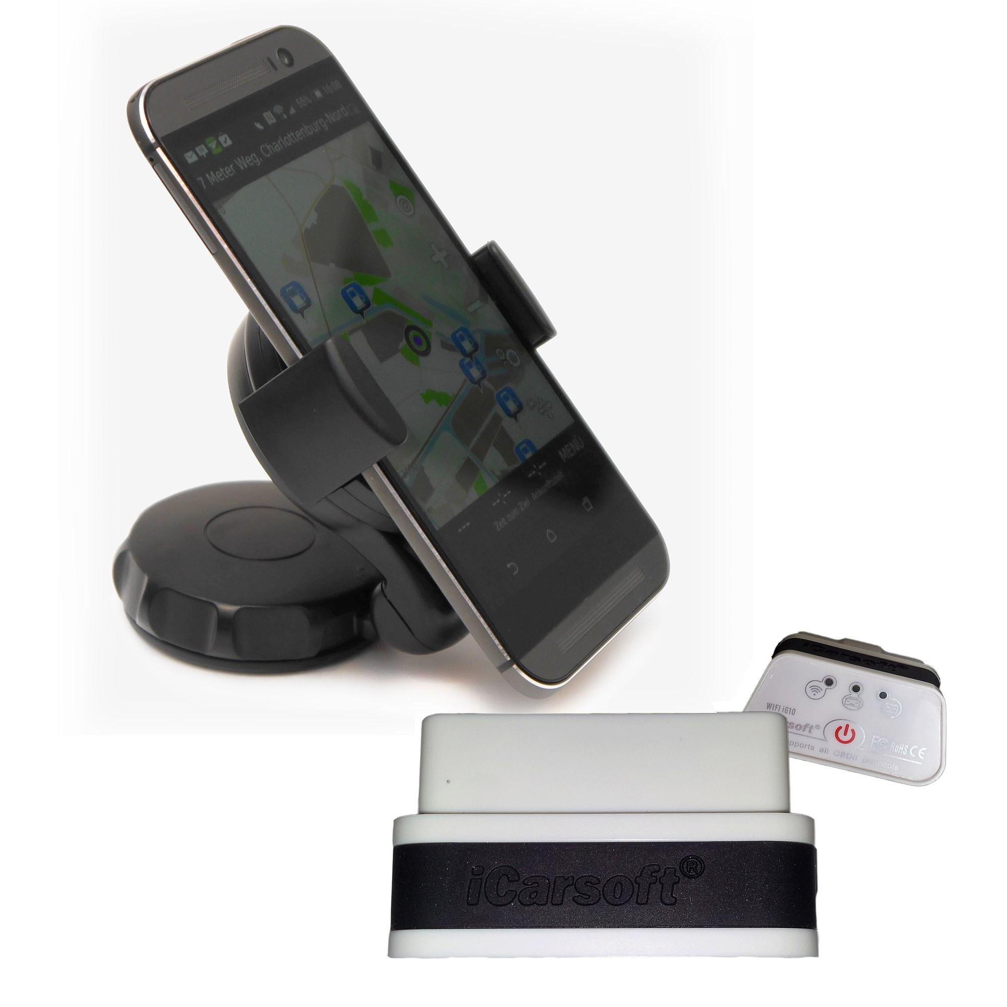 icarsoft i610 wifi obd 2 diagnoseger t handyhalterung. Black Bedroom Furniture Sets. Home Design Ideas