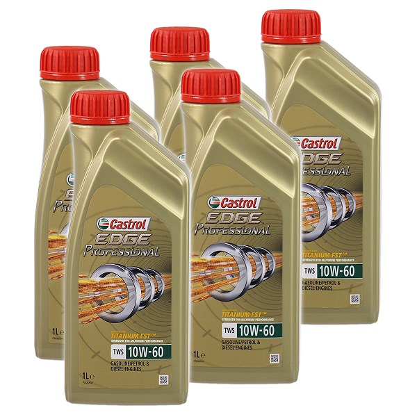 castrol 5x 1 l edge professional titanium fst tws 10w 60. Black Bedroom Furniture Sets. Home Design Ideas