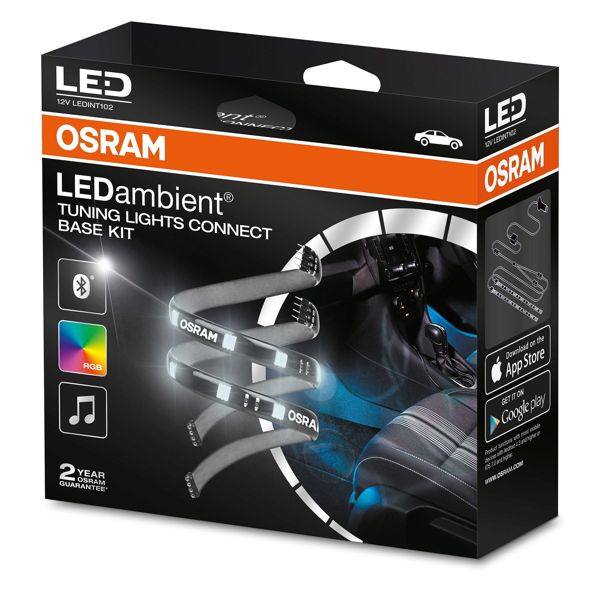 osram ledambient tuning lights connect. Black Bedroom Furniture Sets. Home Design Ideas